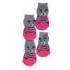 Skarpetki bawełniane dla psa miś różowe