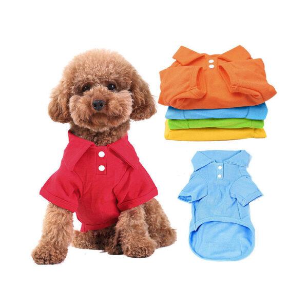 Koszulka polówka polo dla psa różne kolory na lato z kołnierzykiem