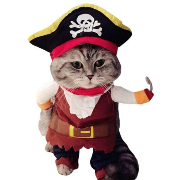 Śmieszny kostium dla zwierząt na Halloween