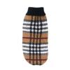 Sweter dla psa lub kota brązowo biały w czarno-czerwoną kratkę