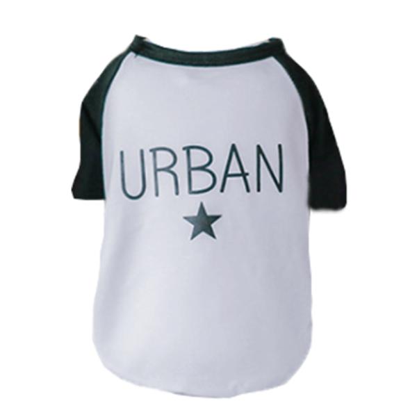 przewiewna, bawełniana koszulka dla psa, rozciągliwy materiał, modny wzór streetwear urban, kolor czarny