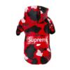 bluza dresowa dla psa supreme moro czerwona streetwear tył miniaturka