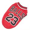 koszykarska przewiewna koszulka dla psa bulls balls czerwona miniatura