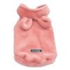 Mięciutki polarek miś króliczek dla psa z kapturem i uszami, pluszowy, zapinany na napy, kolor różowy