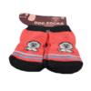 Skarpetki dla psa bawełniane czerwone z małpką