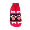Sweter dla psa lub kota czerwony z pomarańczowymi łapami i białymi kostkami