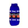 Sweter dla psa lub kota niebieski z pomarańczowymi łapami i białymi kośćmi