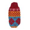 Sweter dla psa lub kota czerwono-niebieski z szachownicą i wzorkami