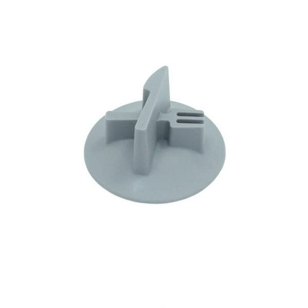 wkład silikonowy spowalniający do miski szary wzór nóż widelec bok miniatura