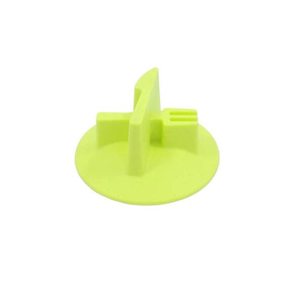 wkład silikonowy spowalniający do miski zielony wzór nóż widelec bok miniatura