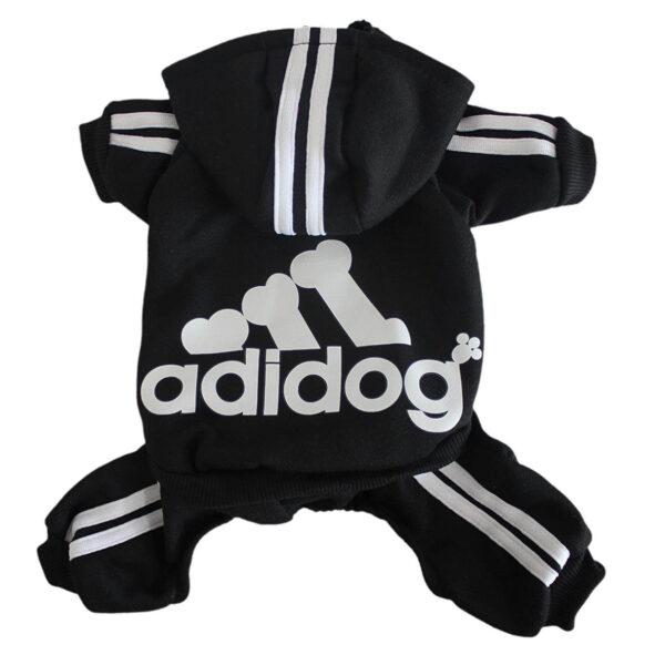 Kombinezon dresowy dla psa czarny Adidog grzbiet