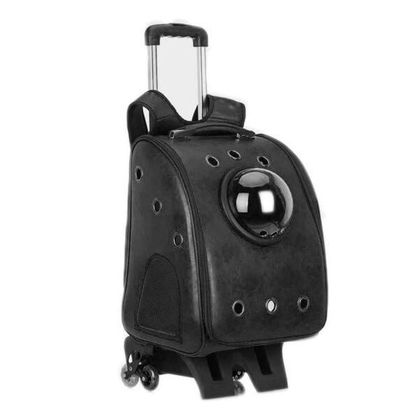 Plecak transporter astronauta z wózkiem kolor czarny