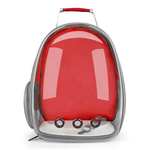 Plecak transporter idealny dla małego psa i kota kolor czerwony