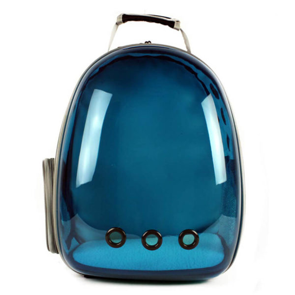 Plecak transporter idealny dla małego psa i kota kolor niebieski