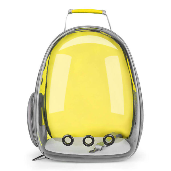 Plecak transporter idealny dla małego psa i kota kolor żółty
