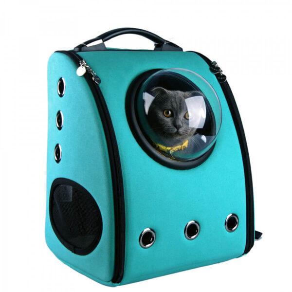 Plecak transporter dla psa lub kota kolor turkusowy