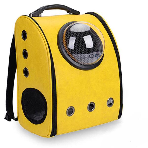 Plecak transporter dla psa lub kota kolor żółty