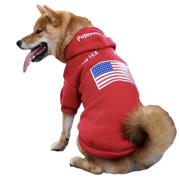 Pupreme The Dog Face Red Bluza Pies Główne