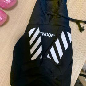 Streetwearowa bluza dla psa WOOF czarno-żółta photo review
