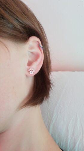 Kolczyki srebrne pokryte różowym złotem Zarina photo review
