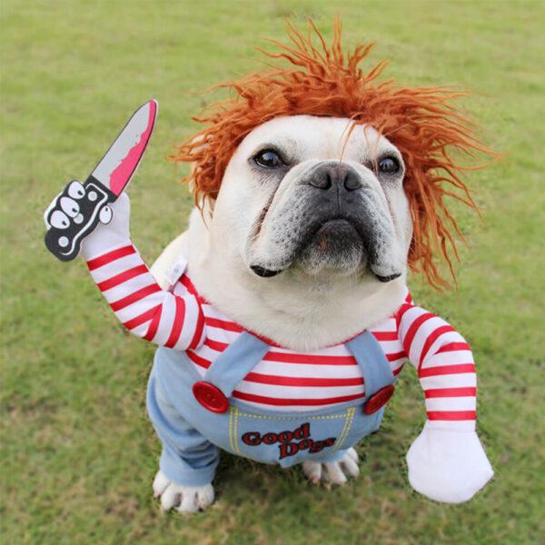 Kostium Dla Psa Laleczka Chucky Buldog