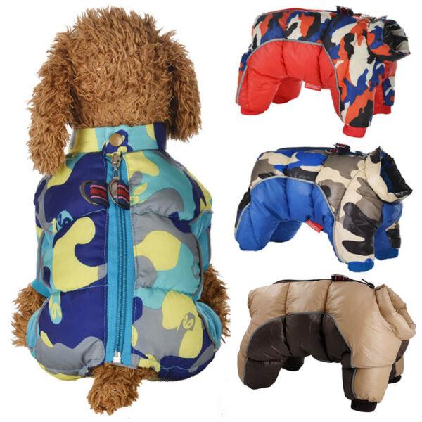 Ocieplany kombinezon dla psa Military miniatura